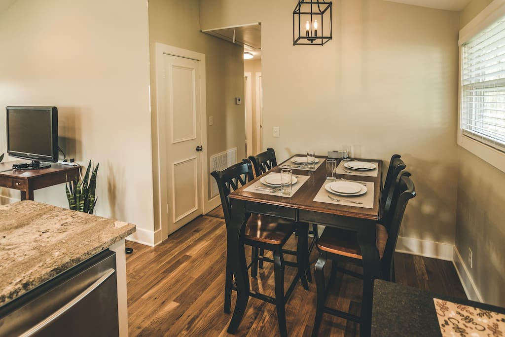 Dining area next to kitchen.