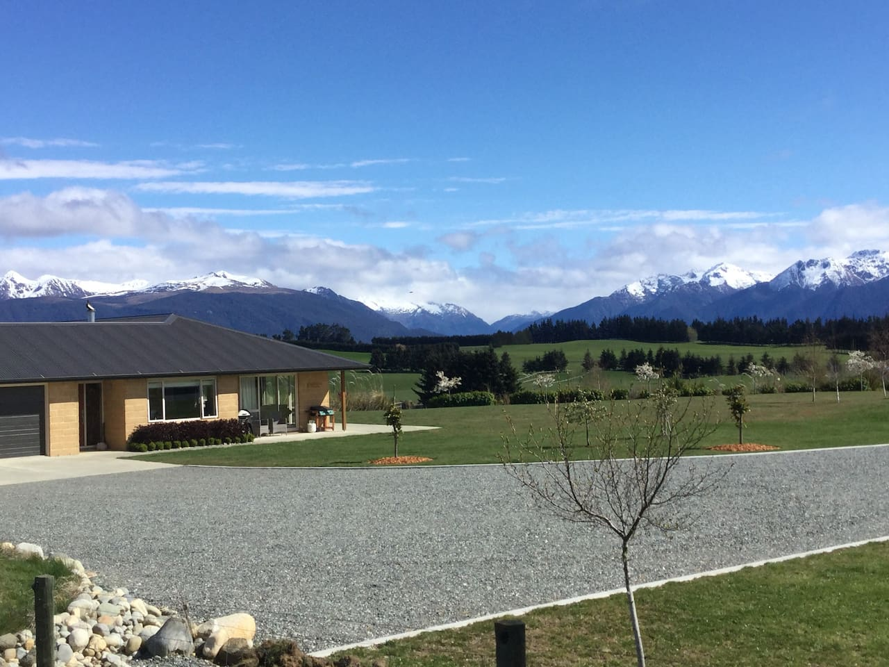 Elevated and wide open spaces provide unobstructed views of Fiordland National Park!