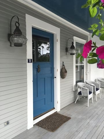 Front porch and door