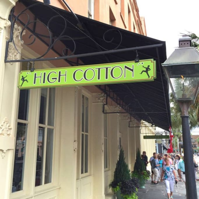 Just downstairs you'll find some of Charleston's top restaurants including High Cotton.