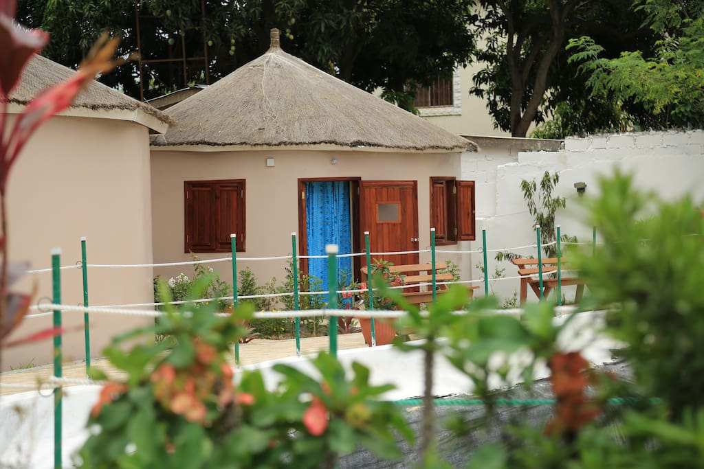 FULLY EQUIPPED AFRICAN STYLE ROUND HUTS