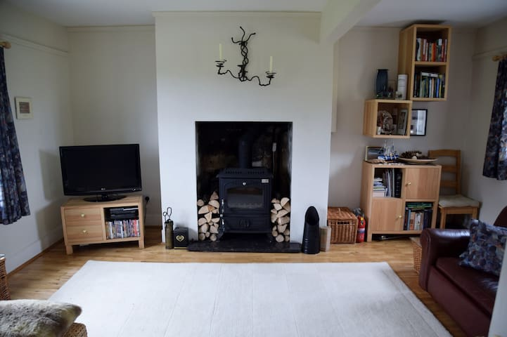 Light and spacious lounge with 2 comfy sofas.
