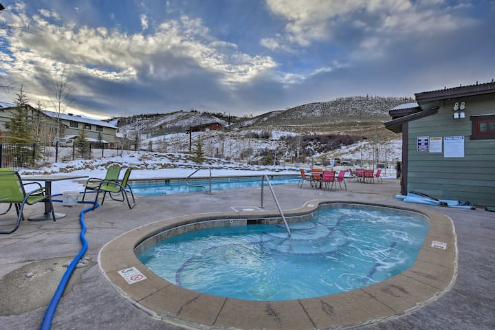 Recuperate by soaking in the community hot tubs or pool.