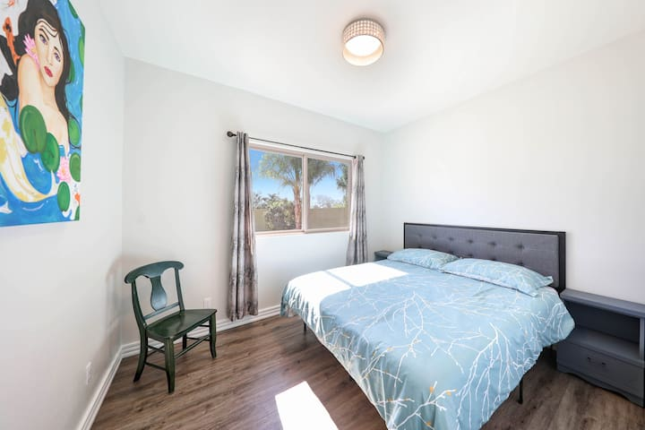 Bedroom one with king size bed