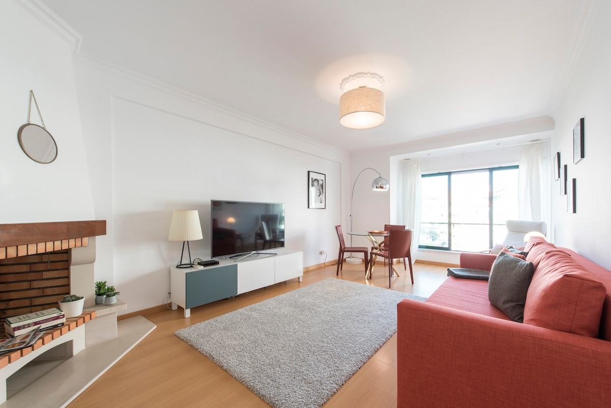... Spacious And Bright Living Room With Comfortable Double Sofa Bed, Flat  Screen TV And Pictures Gallery