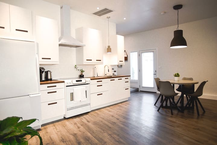 Spacious and open kitchen