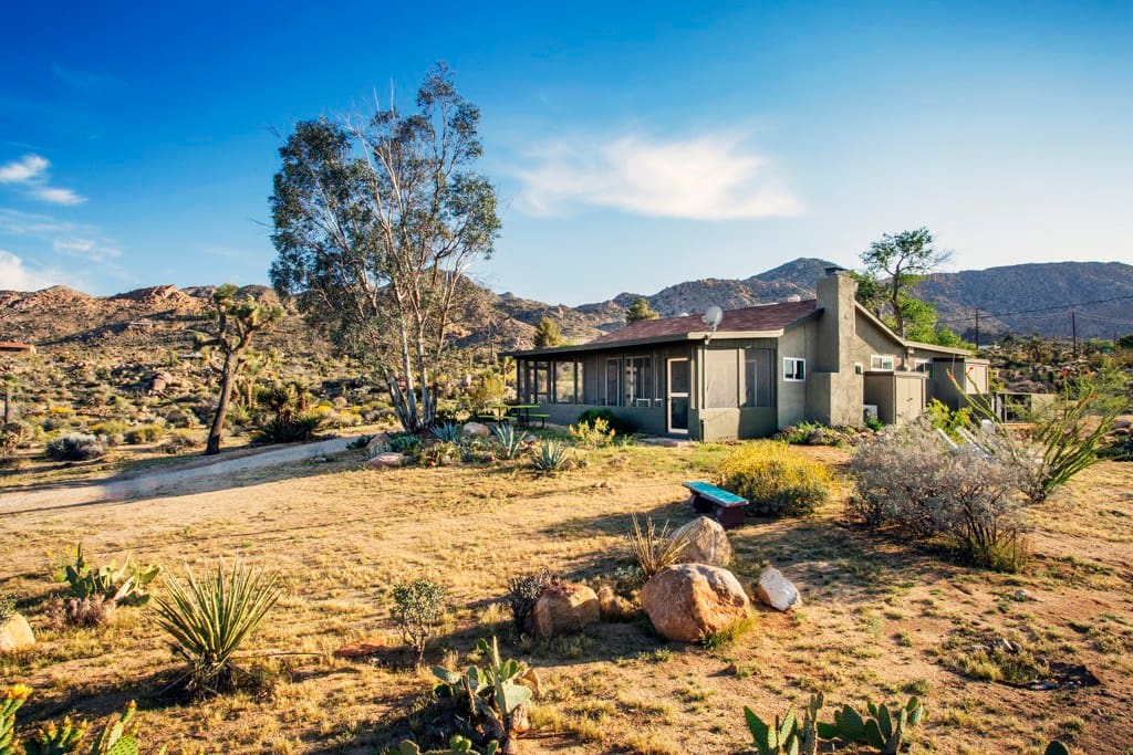 1954 Homesteader cabin in the Joshua Tree Highlands. A chic contemporary retreat with all the creature comforts.