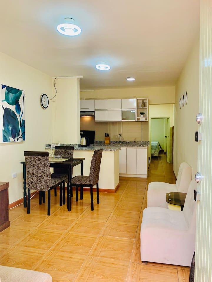 Céntrico y acogedor apartamento de 1 habitación