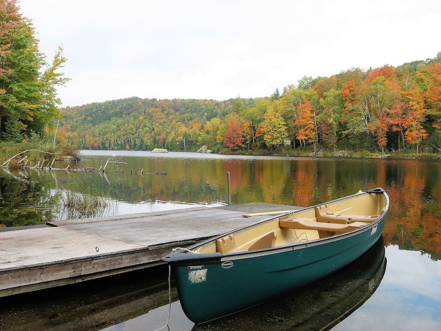 From the parking lot, load the canoe and paddle across to the cottage. Can you spot it?