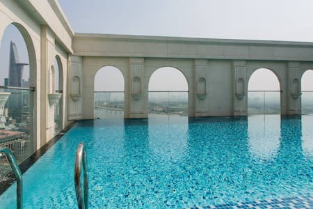 High floor studio, FREE rooftop pool, gym, central - Ho-Chi-Minh-Stadt - Wohnung