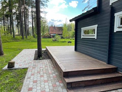 Jurmala eco home with a 40 m2 terrace