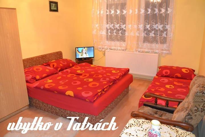 Ubytko v Tatrách - Veľká Lomnica - บ้าน