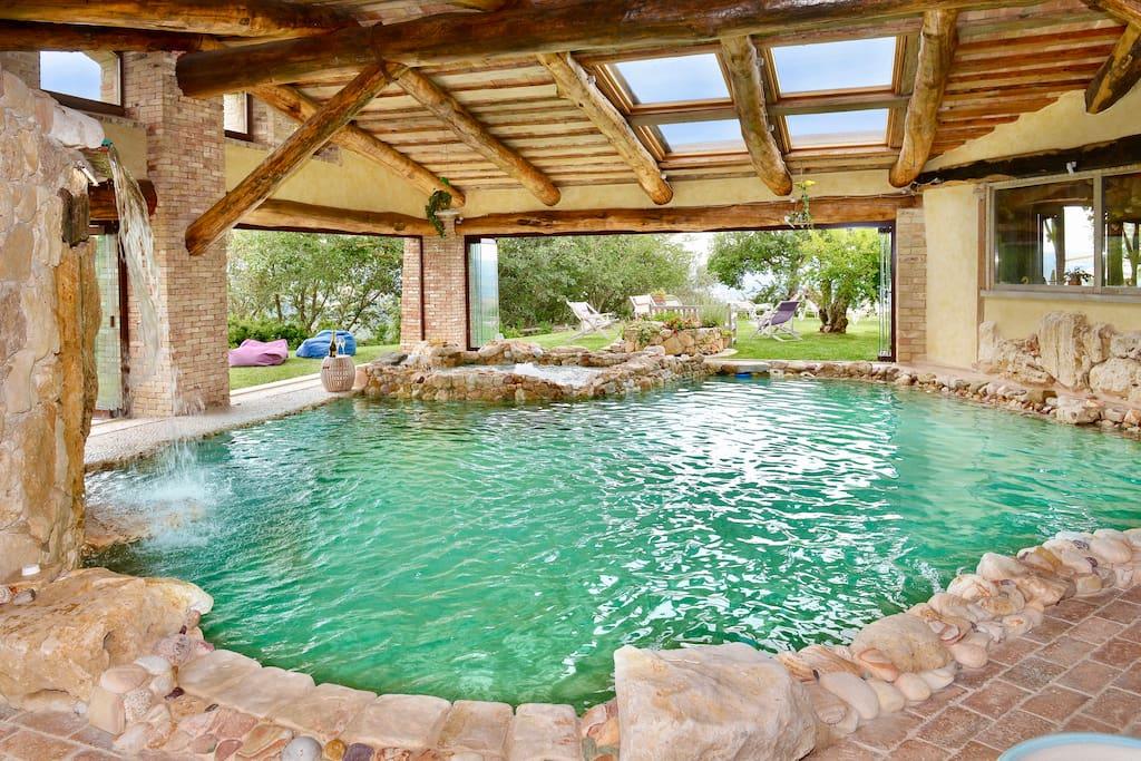 Villa di lusso piscina riscaldata orvieto 14 pl ville - Piscina acqua salata ...