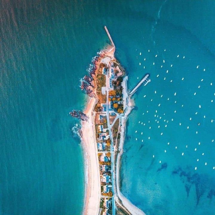 Maison vue mer et plage à 100m