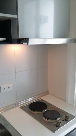 Kitchen stove and vent hood for light cooking