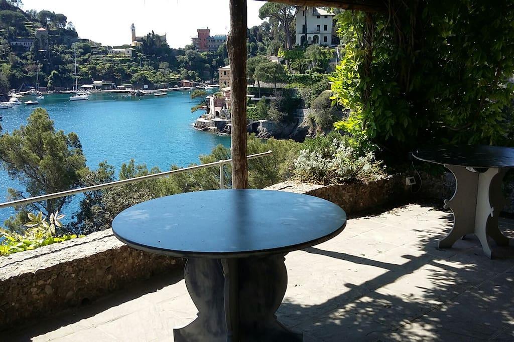 Enchanting view on  Portofino's Bay
