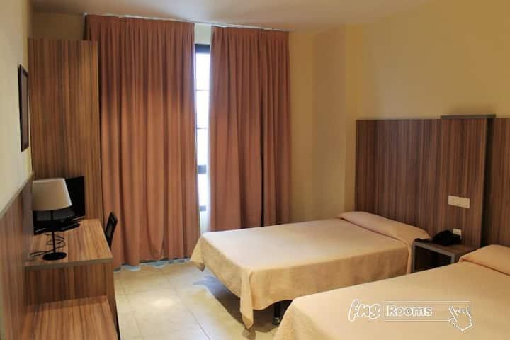 Hotel Camino Real - Doble 2 camas. Baño privado