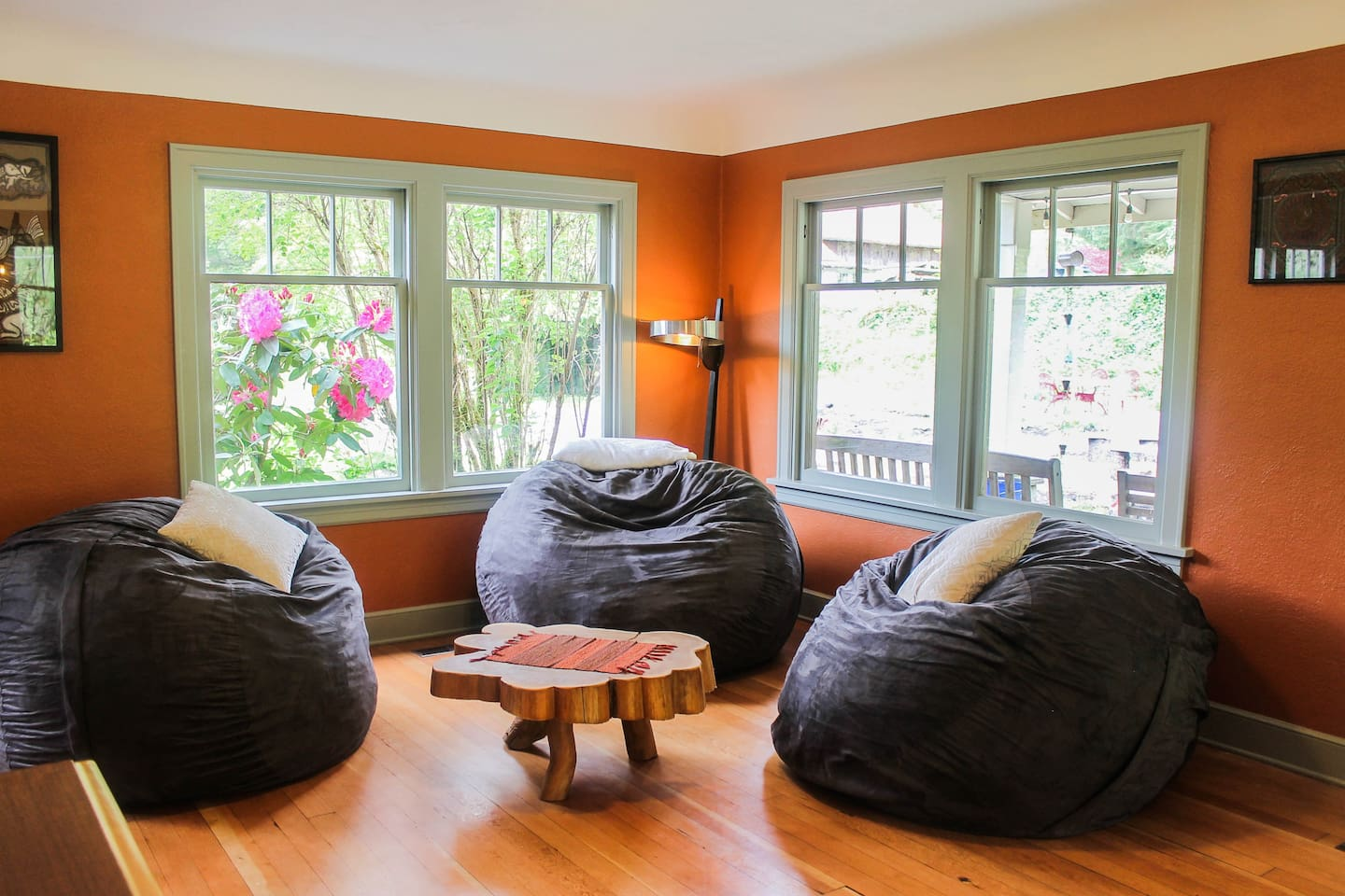 Bean bags offer the ultimate relaxation
