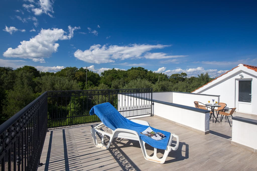 Big private patio for your use only. Apartments Kaja, Krk