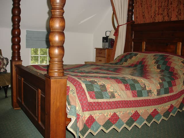 The Bedroom with Four-poster Bed