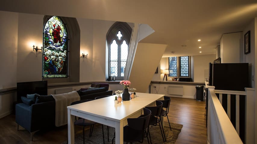 Unique converted Grade II listed church in Hyde