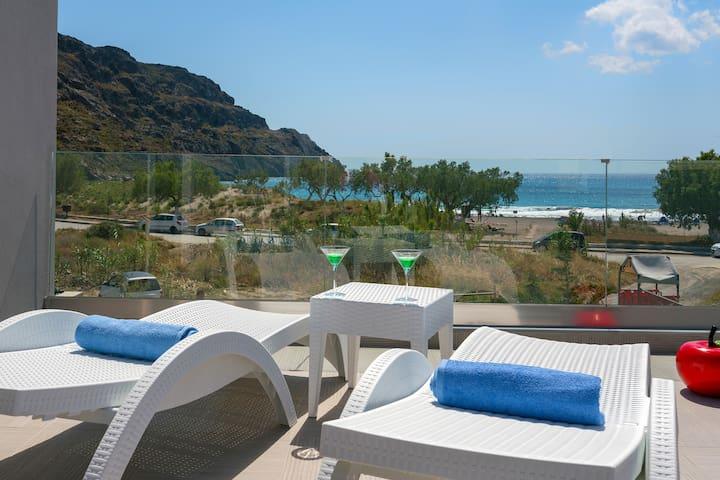 Beachfront Pool Villa Iakinthos at Plakias Village