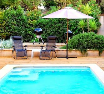 Village house w/private garden, heated pool, wifi - Roujan - Ferienunterkunft