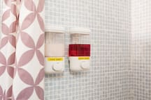 Soap: we have soap dispensers in the shower with lovely shampoo and body wash for you to use while you stay with us!