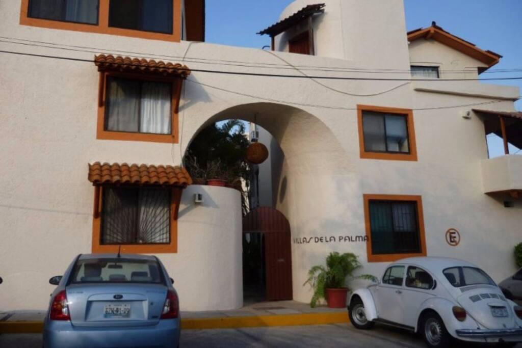 Villas main entrance