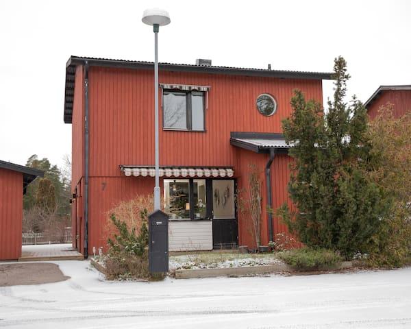 Familjeidyll i Täby