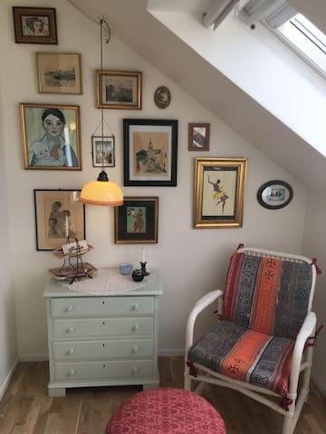 Junior-Princess; idyllic vintageroom in familyhome - Aarhus - Villa