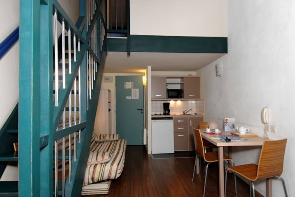 Prepare meals in the privacy of your own kitchenette and dining area.