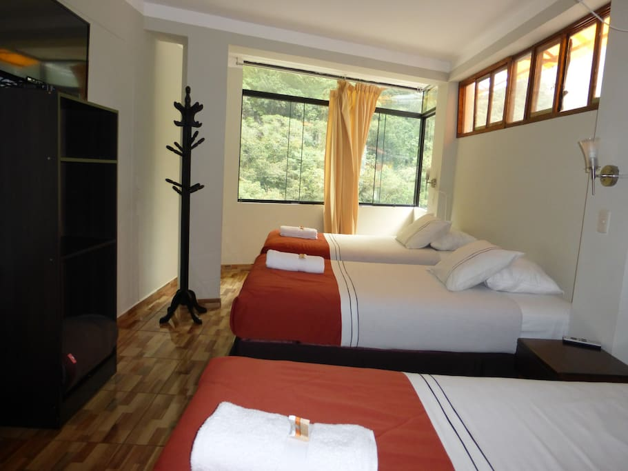Only three beds in a dorm, with comfort pillows, personal lamps and room service.