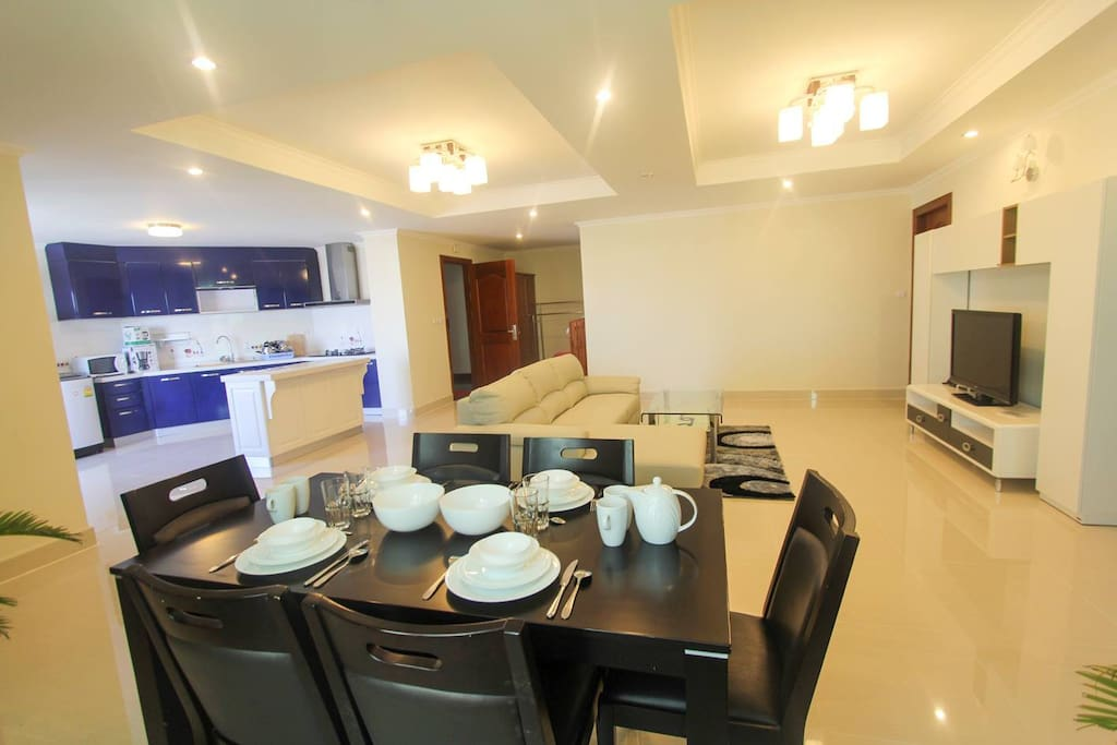 Dinning table and livingroom