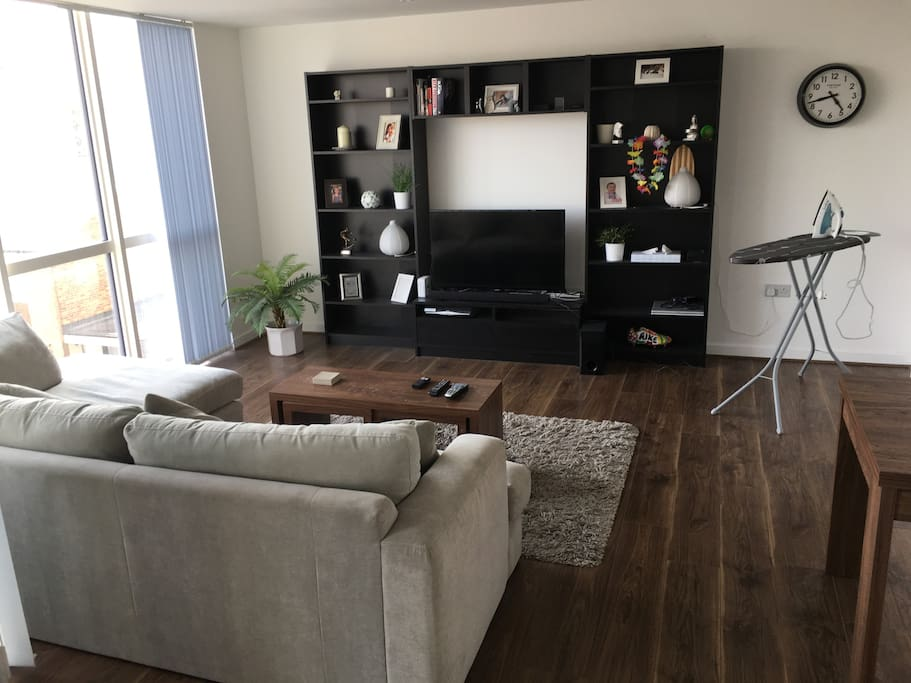 Lounge and living space with TV