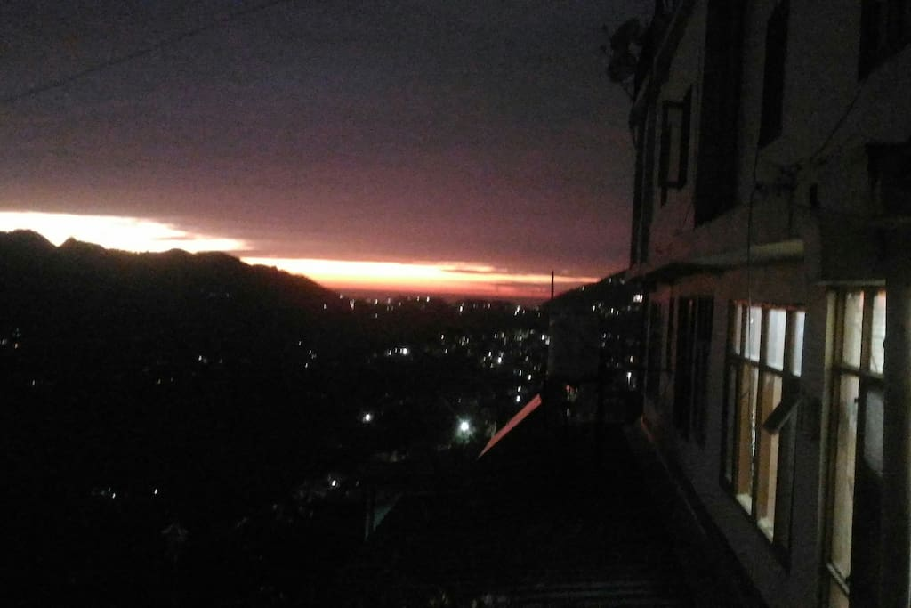Sunset from the BUILDING