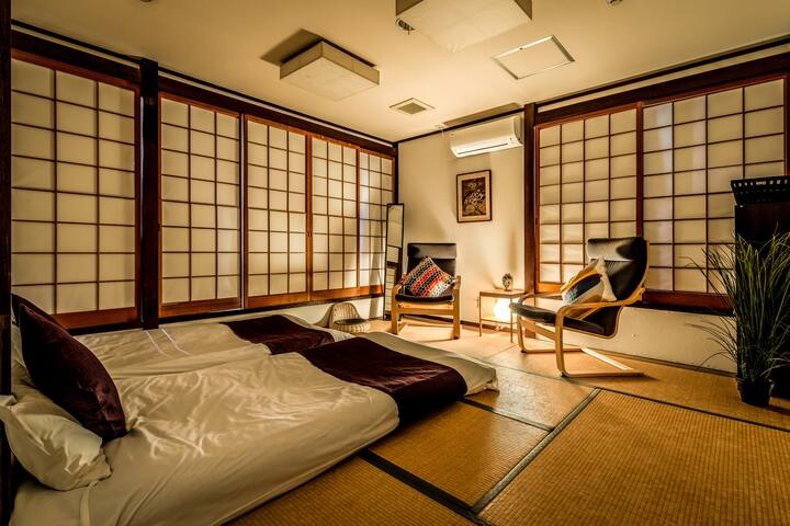 Japanese twinroom B&B w/fruit,1min to NARA station