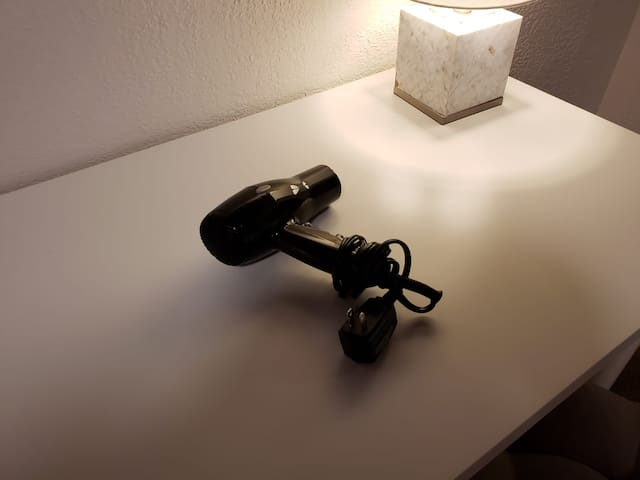 A hairdryer is provided for your convenience and will be in your closet upon check-in.