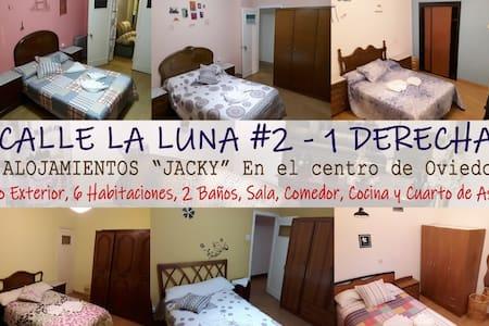 """2D-alojamientos""""JACKY""""habitacion amplias luminosas"""