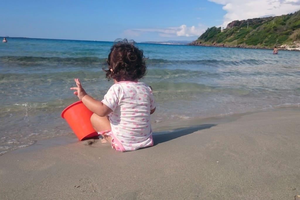 Le spiagge sono ideali per i bimbi Beaches are perfect for children