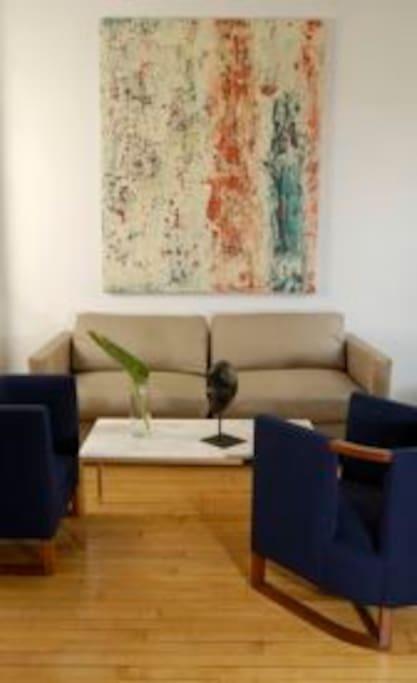 elegant seating area in living room
