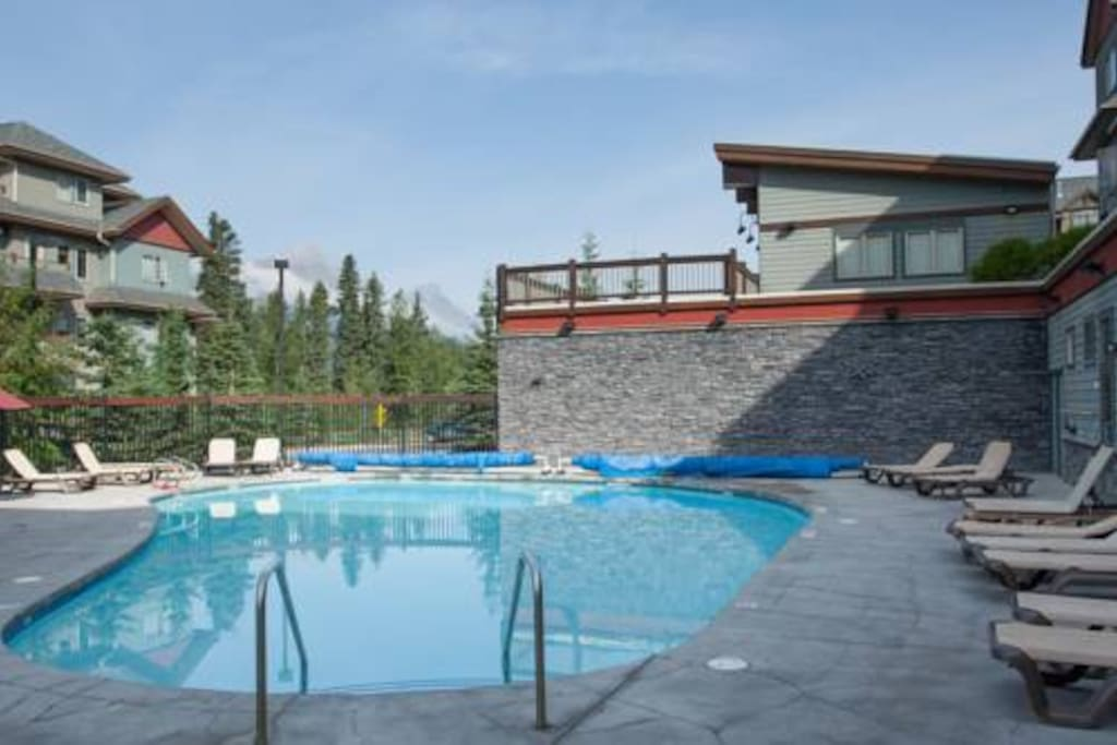 Outdoor pool open all year.