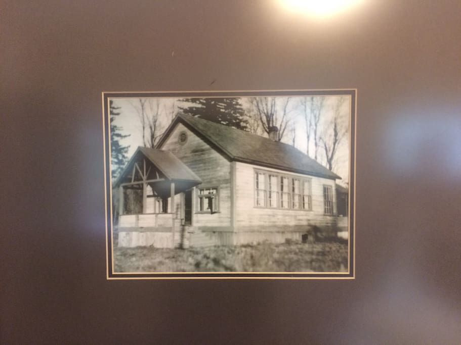 This is the original school house from 1906 which is part of our home. Over the years rooms have been added but the school is still here