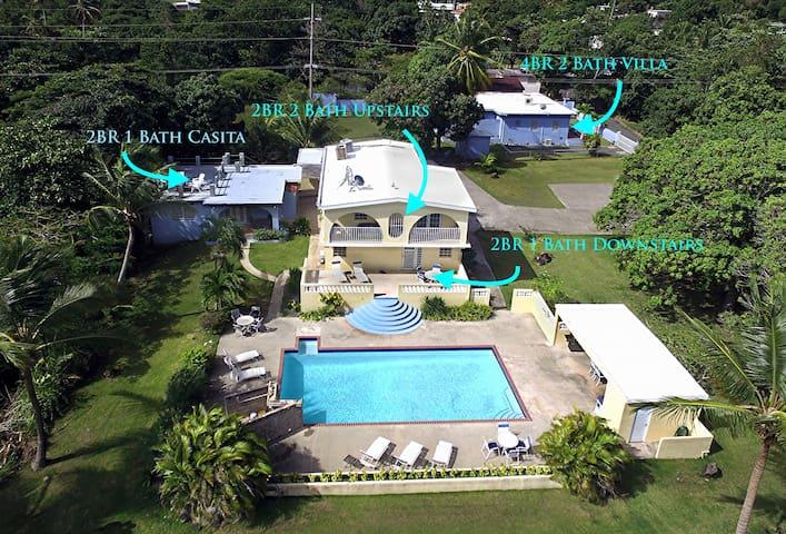 Aerial view of Casa Ladera