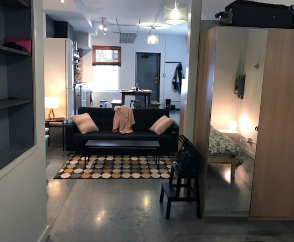 Funky industrial loft apartment in the Annex!