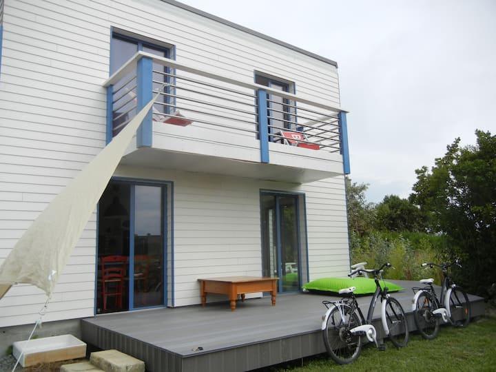 maison bois ty-cube 600m plage