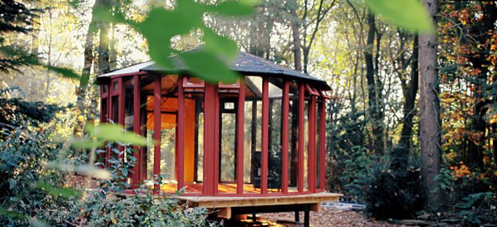 Glazen Yurt in het bos