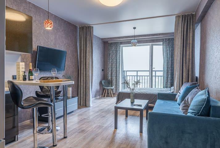 豪华舒适的公寓在市中心。Luxury Cozy studio with amazing view!