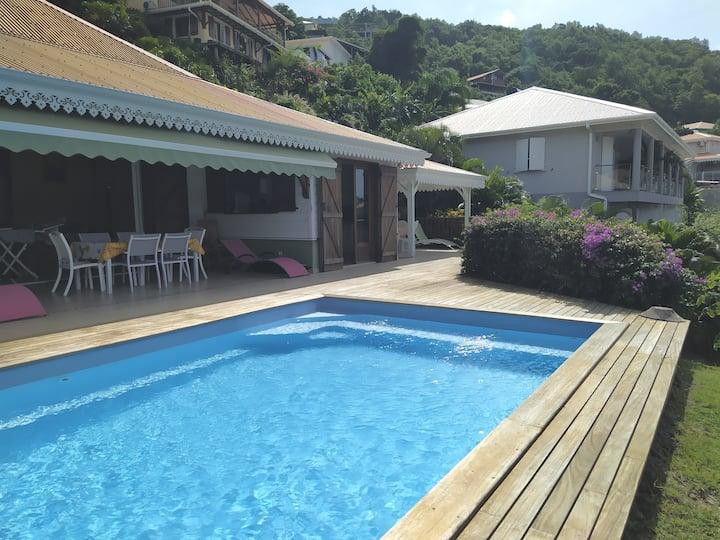 Villa Guetali, piscine avec vue mer, Anses d'Arlet