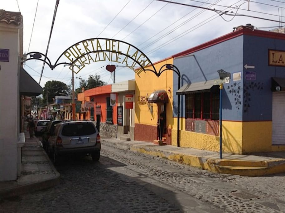 The vibrant colours of a street in Ajijic